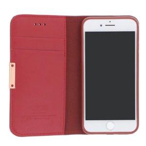 Mørkerød iPhone 8 læder cover