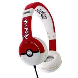 Rød pokemon høretelefon til børn
