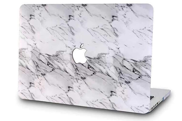 Classic white marble cover til Macbook air