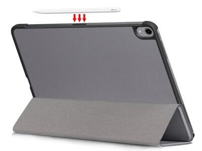 Klassisk magnet flip cover i grå farve