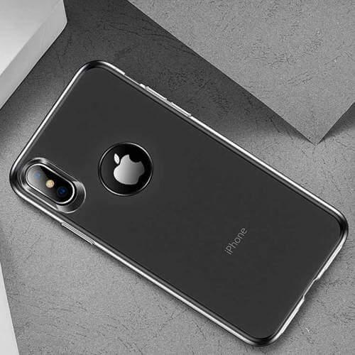Sort gennemsigtig silikone cover iphone Xs