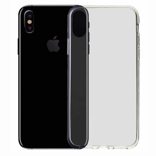 Tyndt silikone cover til iphone Xs i god kvalitet