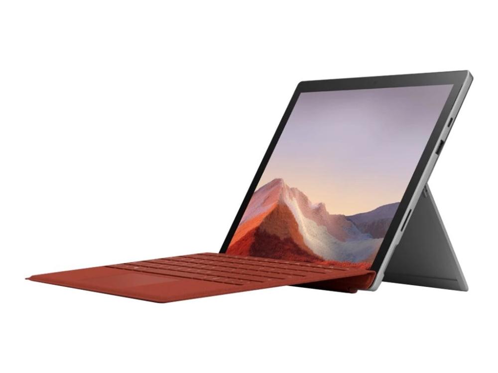 Tablet med rødt keyboard