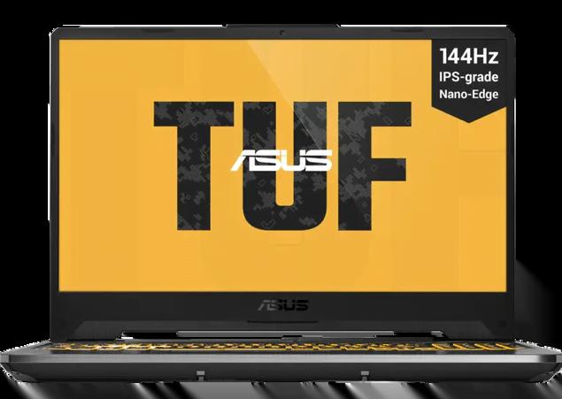 """Bærbar gamer-pc til stærk pris Med opdateringshastighed på 144 Hz Omfattende køling ASUS TUF Gaming F15 kan bryste sig af at være en robust og kraftfuld bærbar PC, der er skabt til gaming. ASUS har udstyret den med en 10. generations Intel Core i5-processor, der er blevet kombineret med et glimrende GeForce GTX 1650-grafikkort fra NVIDIA. Dertil byder den på et RGB-oplyst tastatur med fremhævede WASD-taster. Tastaturet er baseret på Overstroke-teknologien, der registrerer hvert tastetryk på et kort tid. Det mindsker tiden fra tastetryk til respons, hvilket er yderst vigtigt, når den bruges til gaming. Forsynet med kraftfulde komponenter Kombinationen af det kraftfulde NVIDIA GTX 1650-grafikkort og Intel Core i5-10300H-processoren garanterer, at du får en flydende spiloplevelse. Samtidig byder den også på både 8 GB RAM og 512 GB hurtig M.2 SSD-lagring, hvorfor alt sker i et højt tempo. Alt dette havde dog ikke været af den store betydning, hvis ikke det var fordi ASUS havde udstyret computeren med en Full HD-skærm med en opdateringshastighed på 144 Hz. Det medfører nemlig, at skærmen er i stand til at vise skarpe og flydende bevægelser i spil med højt tempo. Omfattende køling Desværre er det ikke alle bærbare PC'er, der er lige gode til at holde de vigtige komponenter nedkølet. ASUS TUF Gaming F15 er dog blevet udstyret med flere varmeledninger og tre køleplade, som kan lede den varme luft væk fra de vigtige komponenter. Derfor slipper du også både nemt og hurtigt af med den varme luft, når du bruger denne laptop fra ASUS. Samtidig er du sikret, at du får en PC med et selvrensende kølesystem med to blæsere, der kan holde ydeevne og støjniveau i god balance. Specifikationer: Processor: Intel Core i5 10300H Grafikkort: NVIDIA GeForce GTX 1650 Hukommelse: 512 GB M.2 SSD RAM: 8 GB DDR4 Skærm: 15,6"""" Opløsning: 1920x1080 (Full HD) Opdateringshastighed: 144 Hz"""