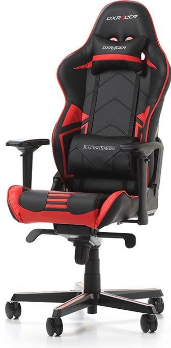 Sort og roed gaming stol