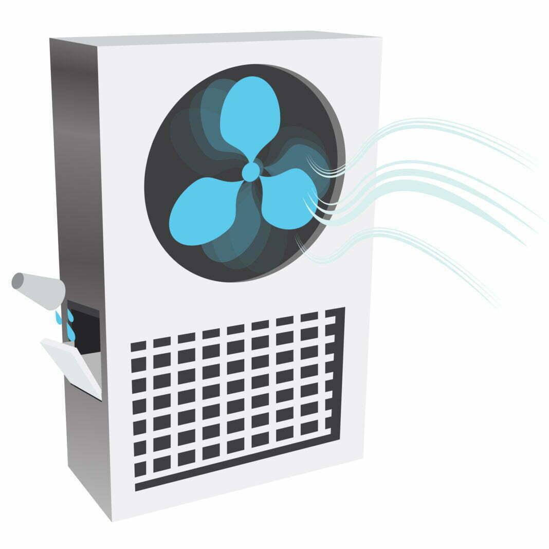 An image of an evaporative air cooler.