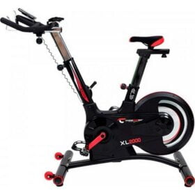 XL spinningscykel I sort og roed